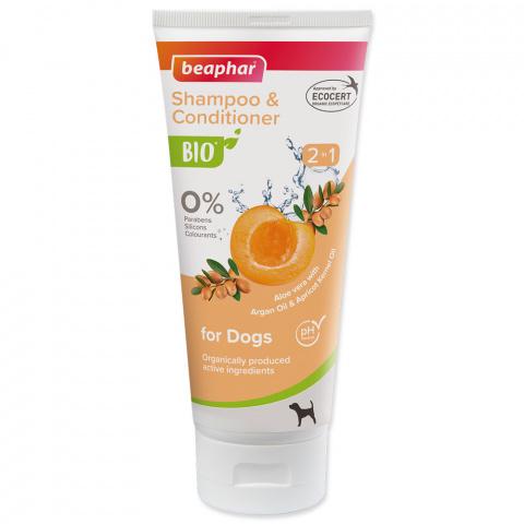 Šampūns suņiem - Beaphar BIO Shampoo and Conditioner 2 in 1, 200 ml title=