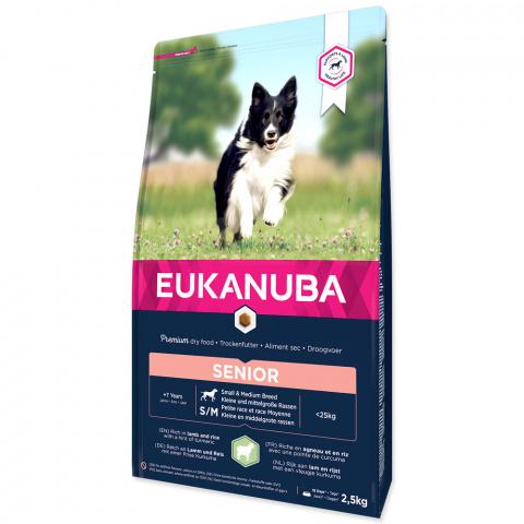 Barība suņiem senioriem – Eukanuba Mature and Senior Lamb and Rice, 2,5 kg title=