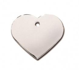 Medaljons - Heart Large Chrome
