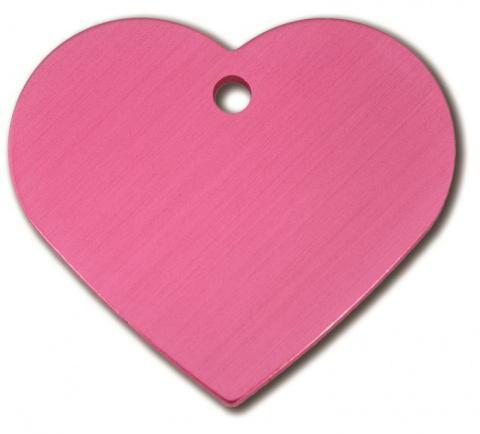 Medaljons – Heart Large Pink title=