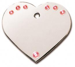 Медальон - Heart Large, С кристаллами