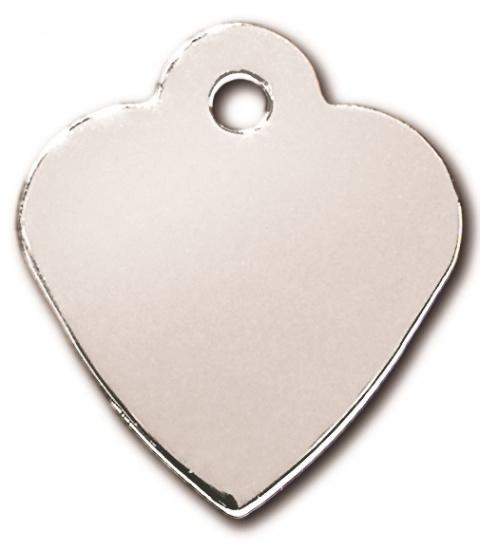Medaljons – Heart Small Chrome title=
