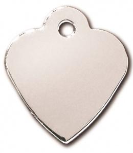 Medaljons – Heart Small Chrome