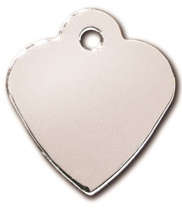 Медальон - Heart Small Chrome