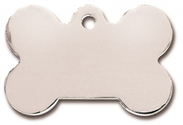 Медальон - Bone Large Chrome