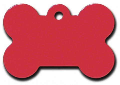 Medaljons – Bone Large Red title=