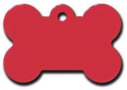 Medaljons – Bone Large Red