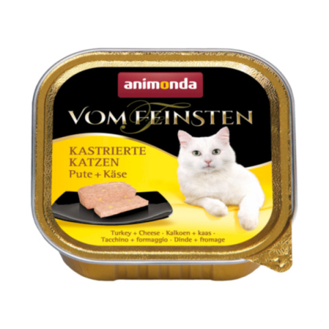 Konservi kaķiem - Vom Feinsten for Castrated Cats Turkey and Cheese, 100 g title=