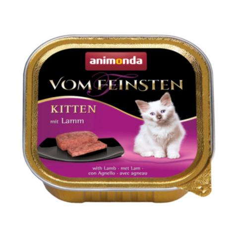 Konservi kaķiem – Vom Feinsten Kitten Lamb meal, 100 g title=