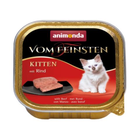 Консервы для кошек - Vom Feinsten Kitten Meat meal, 100 г title=