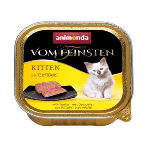 Konservi kaķiem – Vom Feinsten Kitten Poultry meal, 100 g title=
