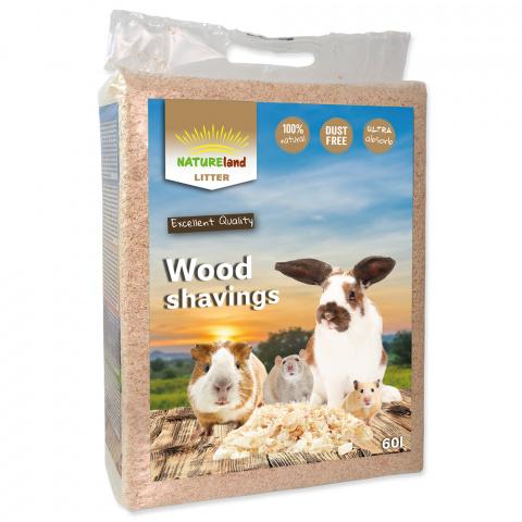 Опилки - NL Wood shavings 60 л / 3,2 кг title=