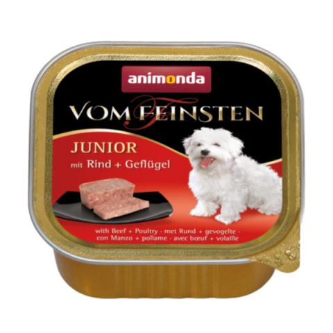 Konservi kucēniem - Vom Feinsten Junior Beef and Poultry, 150 g  title=