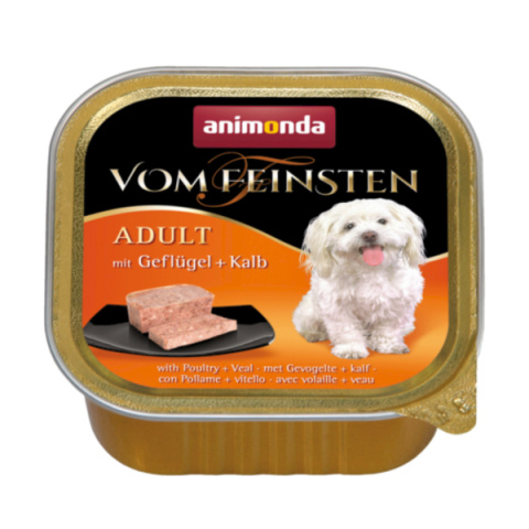 Консервы для собак - Vom Feinsten Classic Poultry and Veal, 150 г title=