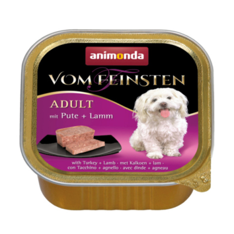 Konservi suņiem - Vom Feinsten Classic Turkey and Lamb, 150 g  title=
