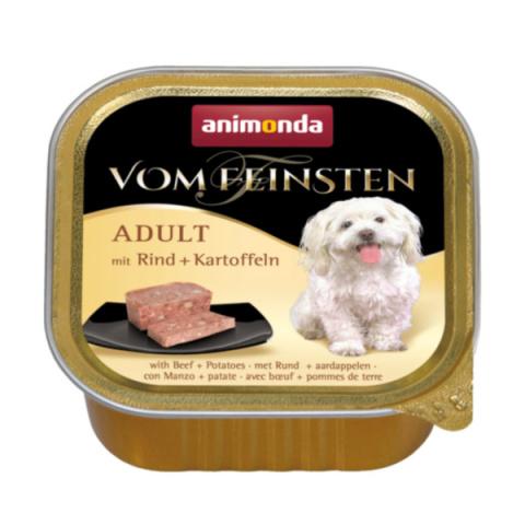Консервы для собак - VomFeinsten Beef and Potatoes, 150 г title=