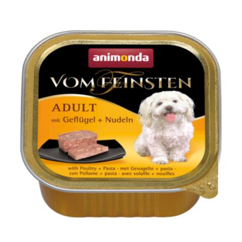Konservi suņiem - Vom Feinsten Poultry and Pasta, 150 g title=