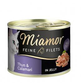 Konservi kaķiem - Miamor Filet, ar tunci un kalmāriem, 185 g