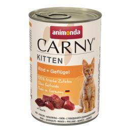 Konservi kaķēniem - Carny Kitten Beef and Poultry, 400 g