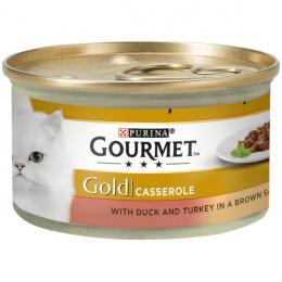 Konservi kaķiem - Gourmet Gold Turkey and Duck in gravy, 85 g