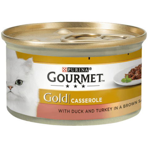 Консервы для кошек - Gourmet Gold Turkey and Duck in gravy, 85 г title=