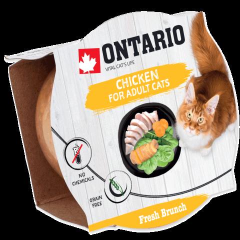 Konservi kaķiem – Ontario Fresh Brunch Chicken, 80 g title=