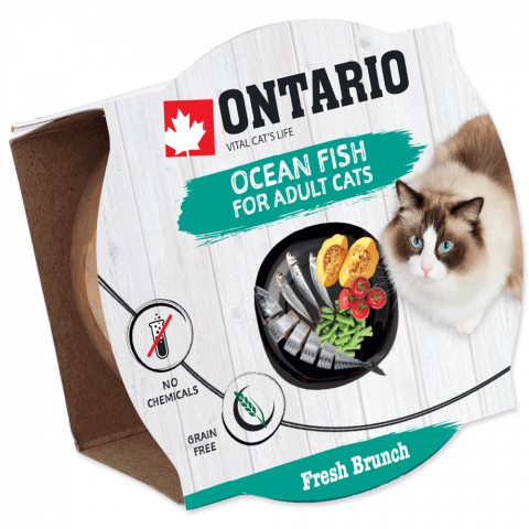 Консервы для кошек - Ontario Fresh Brunch Fish, 80 г title=
