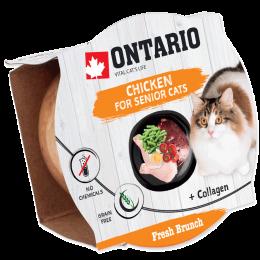 Konservi kaķiem – Ontario Fresh Brunch Senior Chicken, 80 g