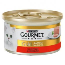 Konservi kaķiem - Gourmet Gold Pate with Beef, 85 g