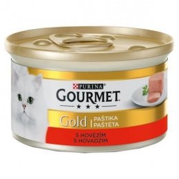 Консервы для кошек - Gourmet Gold Pate with Beef, 85 г
