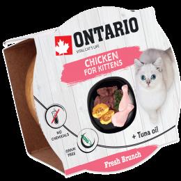 Konservi kaķēniem – Ontario Fresh Brunch Kitten Chicken, 80 g