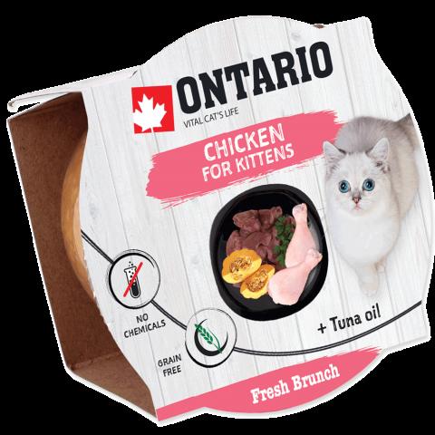 Консервы для котят - Ontario Fresh Brunch Kitten Chicken, 80 г title=