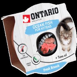 Konservi kaķēniem – Ontario Fresh Brunch Kitten Ocean Fish, 80 g