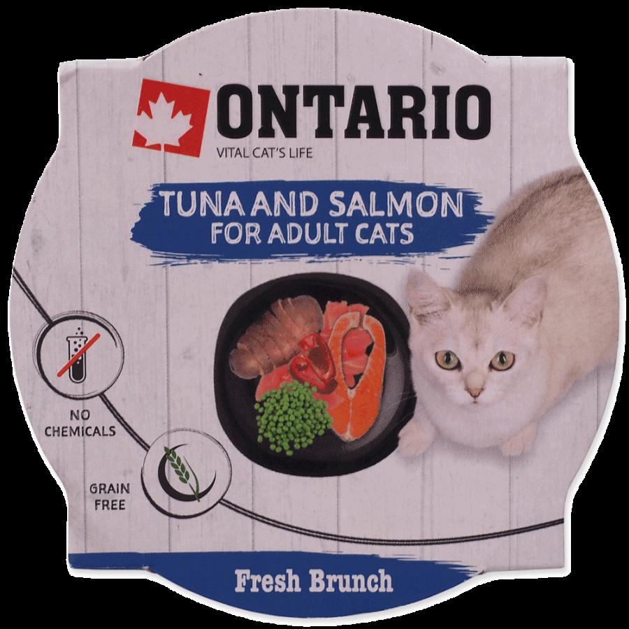 Консервы для кошек - Ontario Fresh Brunch Tuna and Salmon, 80 г