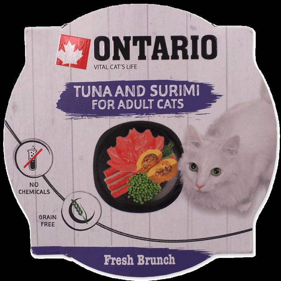 Консервы для кошек - Ontario Fresh Brunch Tuna and Surimi, 80 г