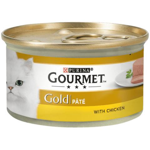 Konservi kaķiem - Gourmet Gold Pate with Chicken, 85 g title=