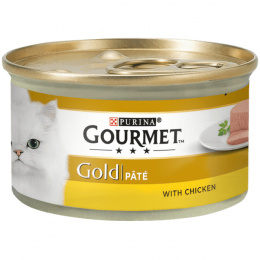 Konservi kaķiem - Gourmet Gold Pate with Chicken, 85 g