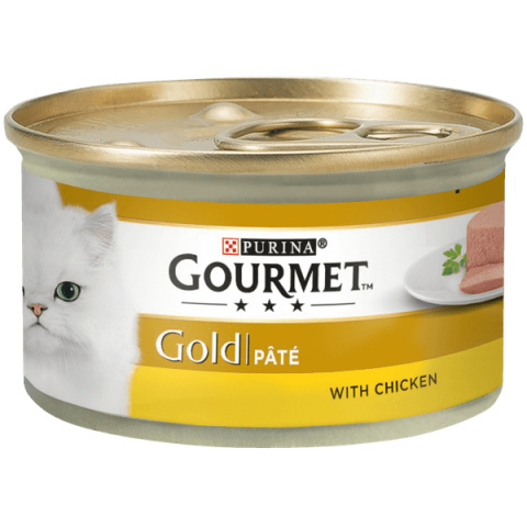 Консервы для кошек - Gourmet Gold Pate with Chicken, 85 г title=