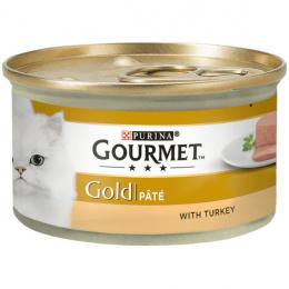 Konservi kaķiem - Gourmet Gold Pate with Turkey, 85 g