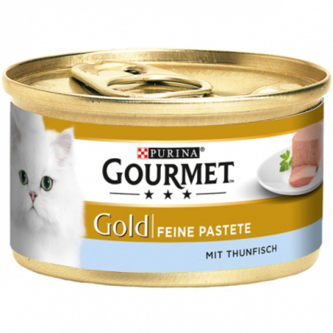 Konservi kaķiem - Gourmet Gold Pate with Tuna, 85 g title=