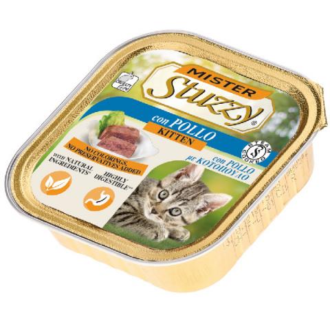 Консервы для котят - MISTER STUZZY Cat Kitten Chicken, 100 г title=