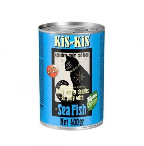 Консервы для кошек - Kis-Kis Grain Free, Sea Fish, 400 г title=