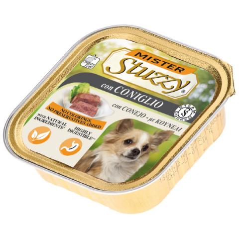 Konservi suņiem - MISTER STUZZY Dog Rabbit, 150 g title=