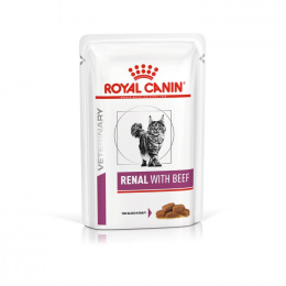 Veterinārie konservi kaķiem - Royal Canin Renal Feline with Beef, 85 g