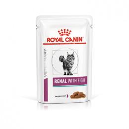 Veterinārie konservi kaķiem - Royal Canin Renal Feline with Fish, 85 g