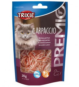 Gardums kaķiem - TRIXIE PREMIO Carpaccio duck and fish, 20 g