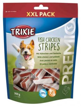 Gardums suņiem - TRIXIE PREMIO Fish Chicken Stripes, XXL Pack, 300 g
