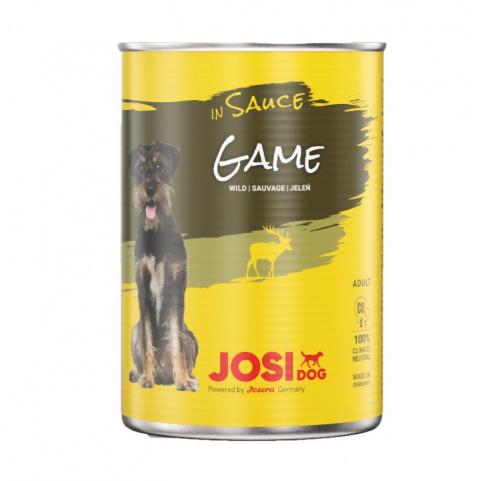 Konservi suņiem - JosiDog Game in sauce, 415 g  title=