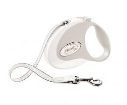 Поводок-рулетка для собак - Flexi New Style S Tape 3m, white