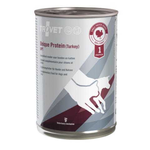 Ветеринарные консервы для собак и кошек - Trovet UPT Unique Protein Turkey, 400 г title=